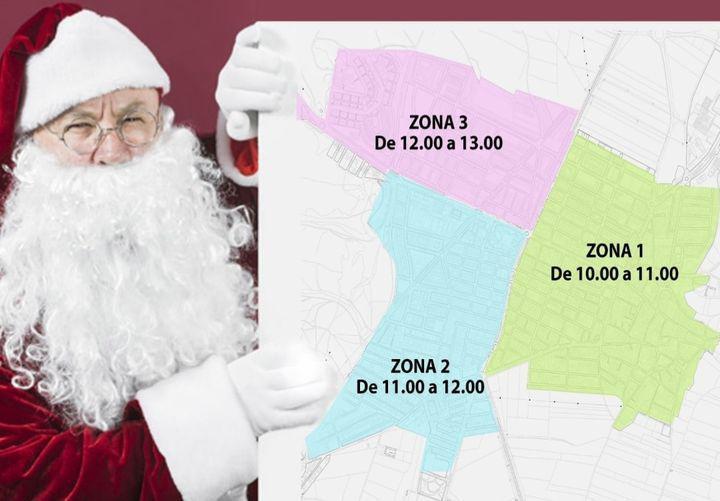 Recorrido de Papa Noel por San Martín de la Vega