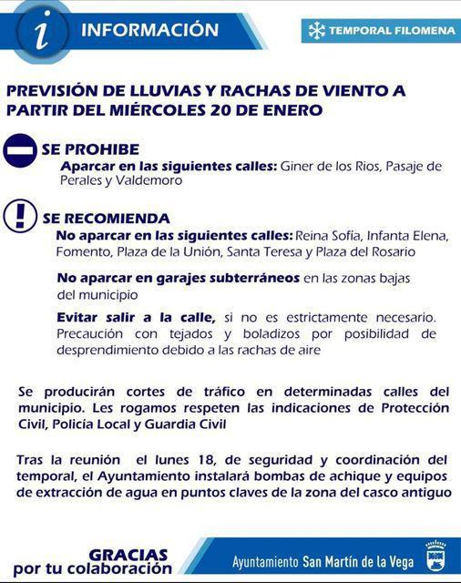 PREVISIÓN DE LLUVIAS Y RACHAS DE VIENTO A PARTIR DEL MIÉRCOLES 20 DE ENERO