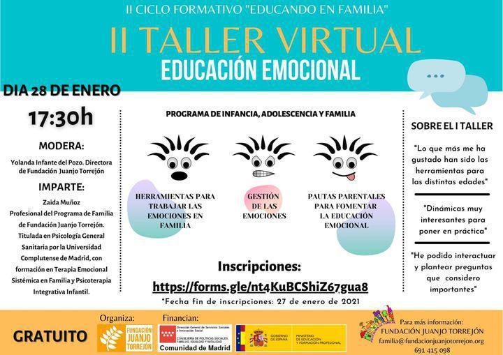 II Taller Virtual sobre Educación Emocional