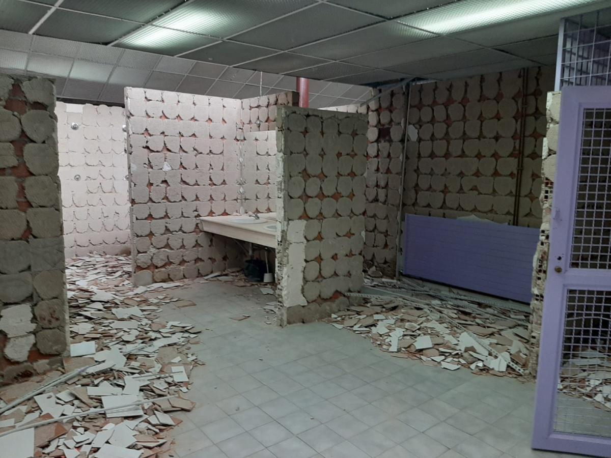 Iniciadas las obras de reforma en los vestuarios del Polideportivo Municipal