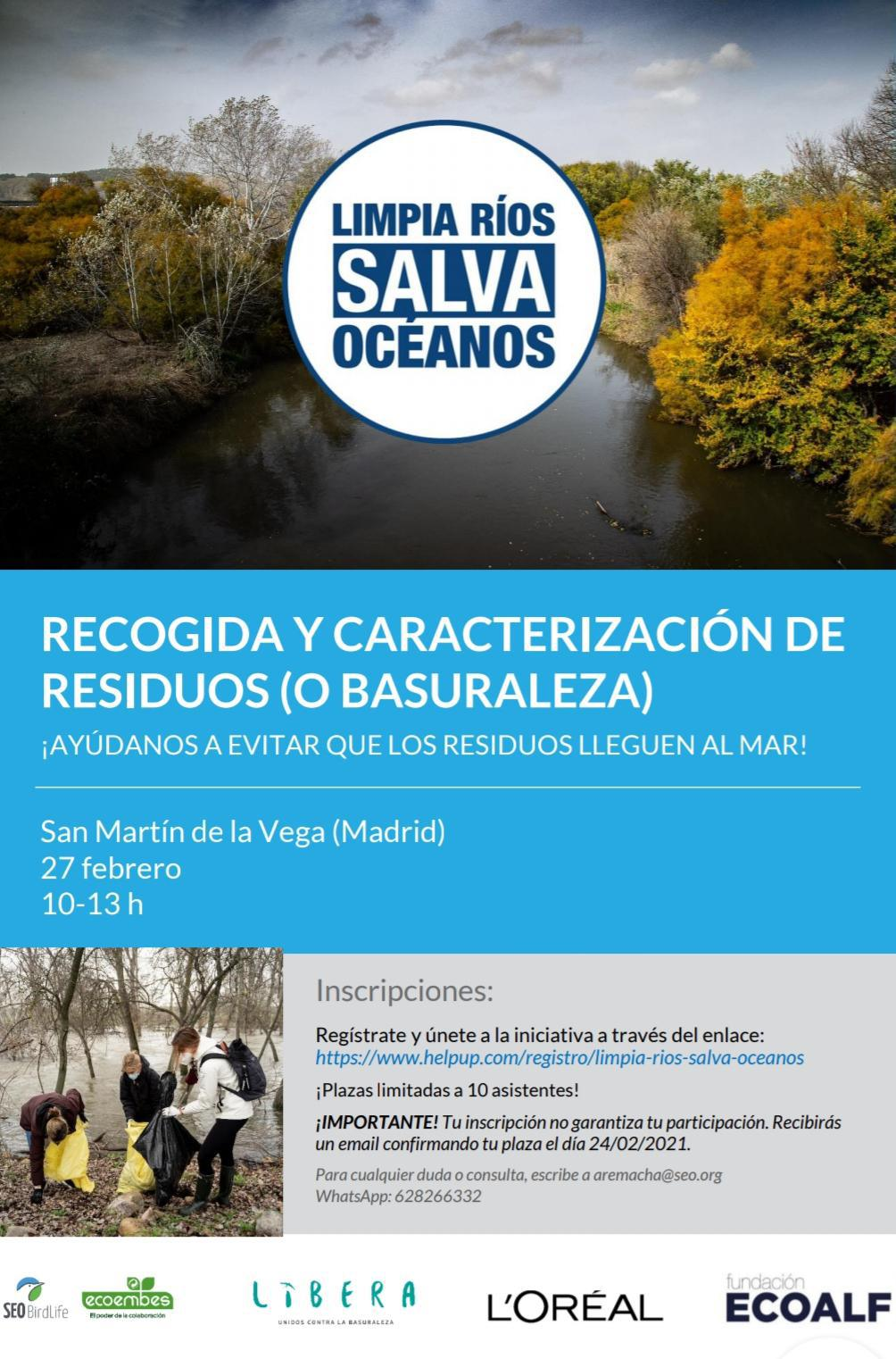 """Llega a San Martín de la Vega la campaña """"Limpia ríos, salva océanos"""""""