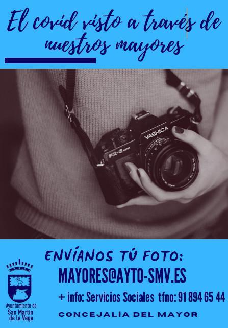 """San Martín de la Vega lanza el concurso fotográfico """"El Covid visto a través de nuestro mayores"""""""