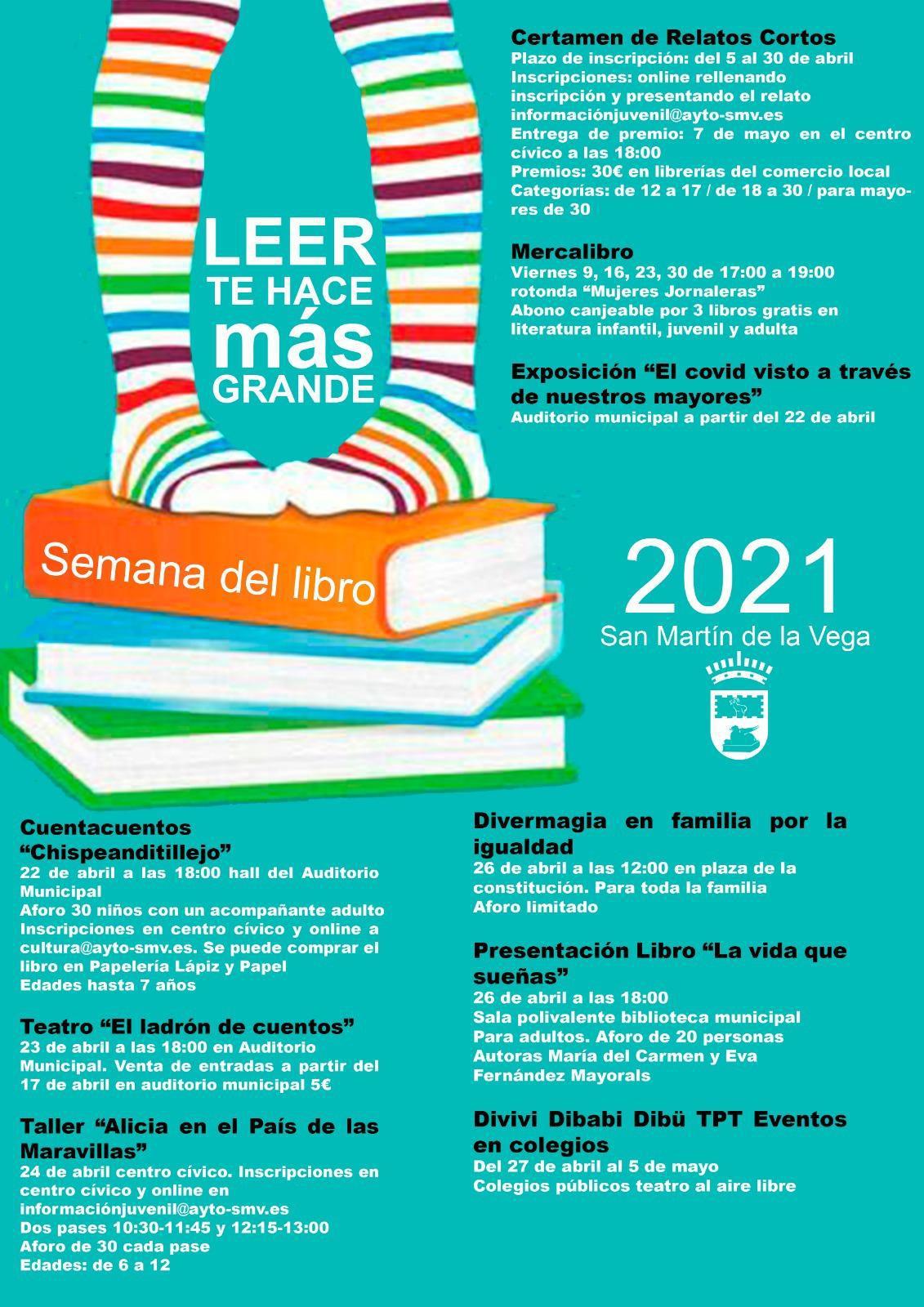 San Martin de la Vega presenta su programación especial para la Semana del Libro