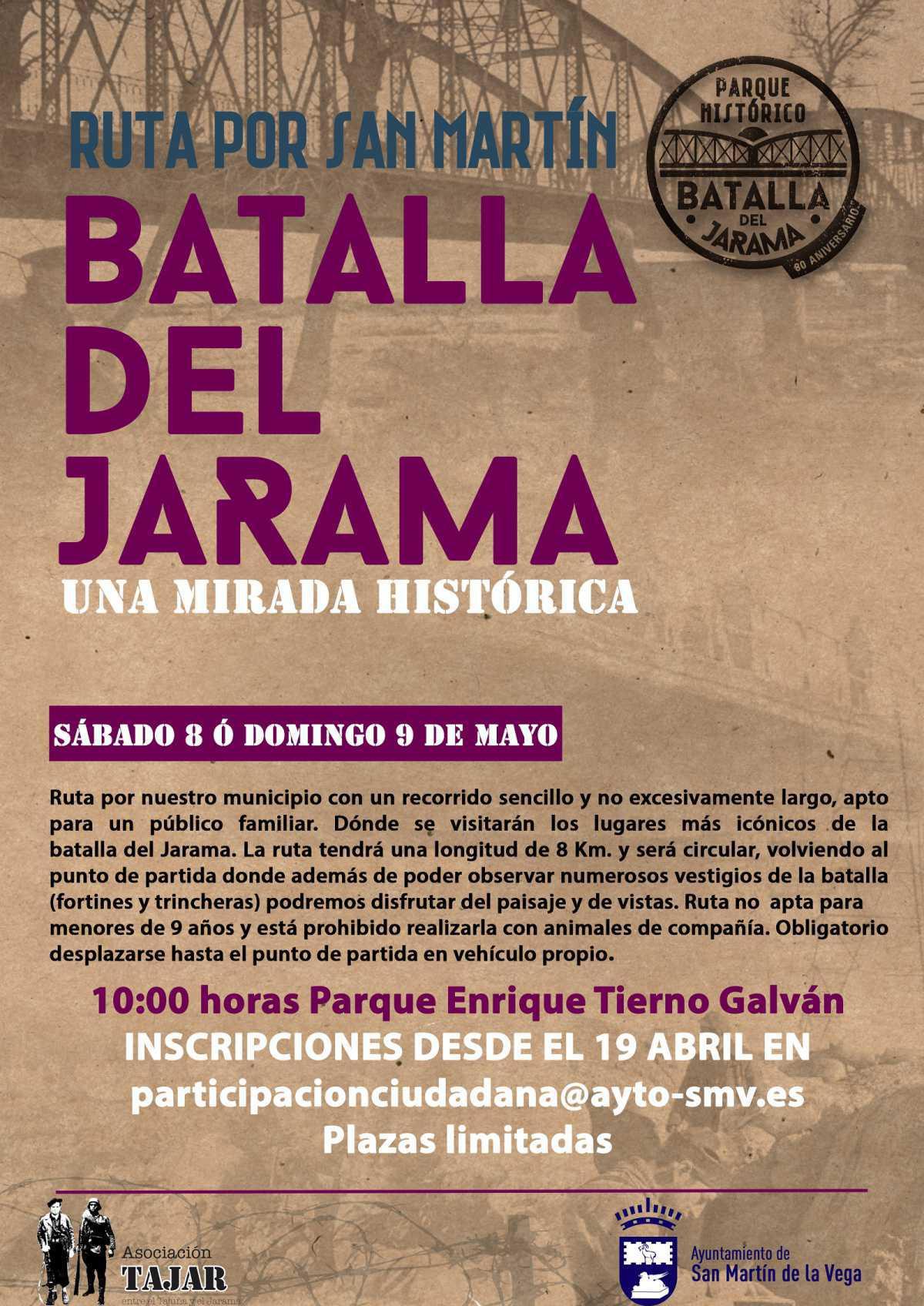 """Vuelve una edición especial de """"Rutas por San Martín"""" sobre la batalla del Jarama"""