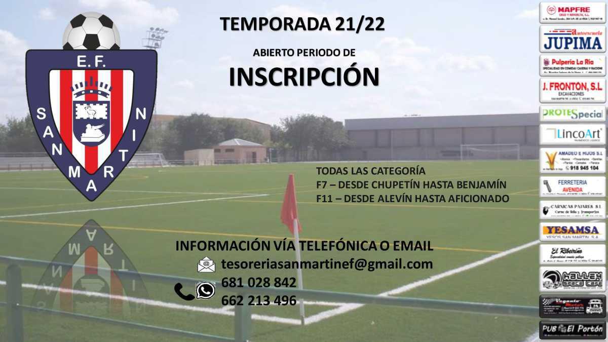 La Escuela de futbol San Matín de la Vega abre las inscripciones para la temporada 2021/2022