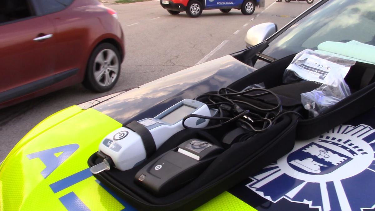 La Policía Local detectará con muestras de saliva el consumo de drogas al volante