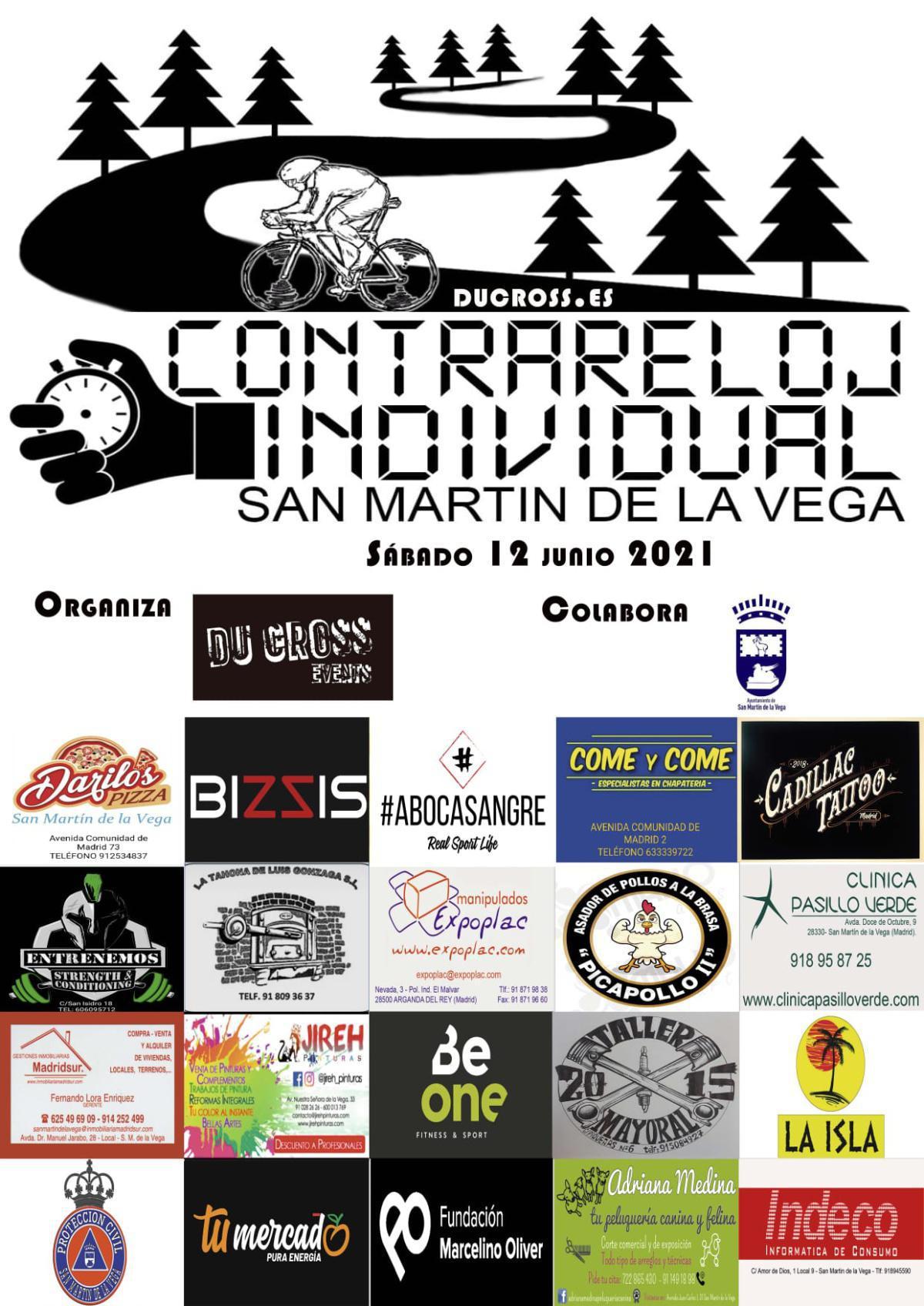 """""""Contrarreloj individual SMV21"""" el próximo 12 de junio en San Martín de la Vega"""