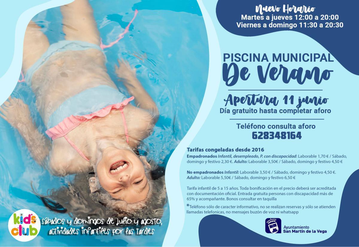 La piscina municipal de verano abrirá sus puertas el viernes 11 de junio