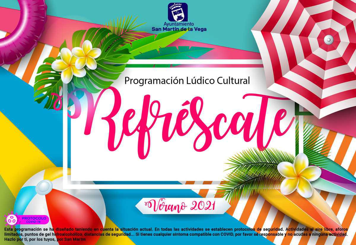 """Vuelve """"Refréscate"""" la programación lúdico cultural de verano en San Martín de la Vega"""