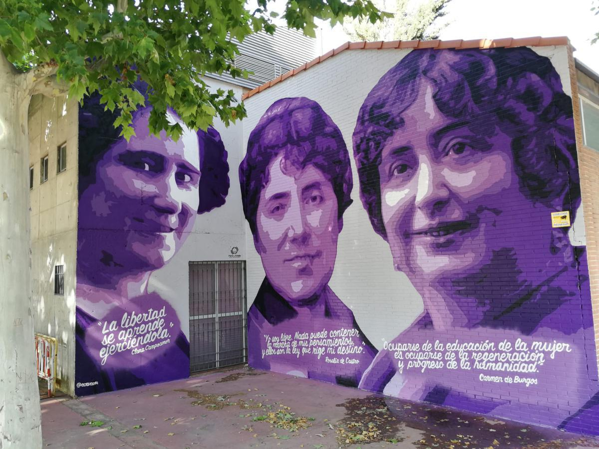 Un nuevo mural para reivindicar el papel importante de la mujer en la historia