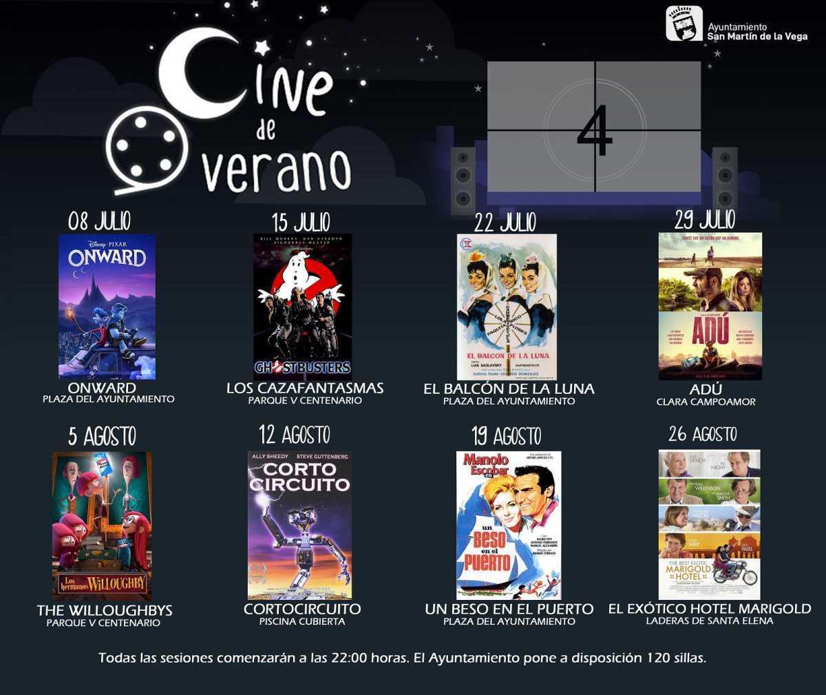 Comienzan las noches de cine de verano 2021 en San Martín de la Vega