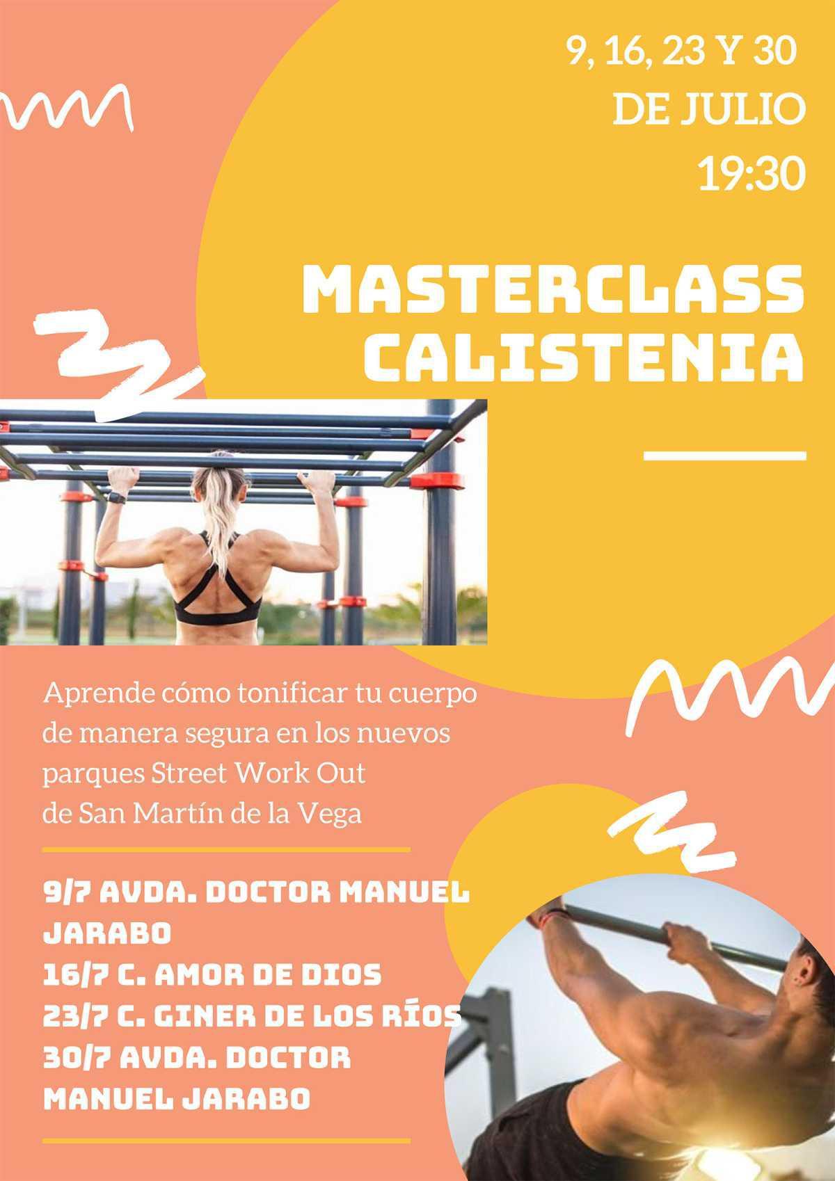 """Arrancan las MasterClass de Calistenia en los parques """"Street work out"""" del municipio"""