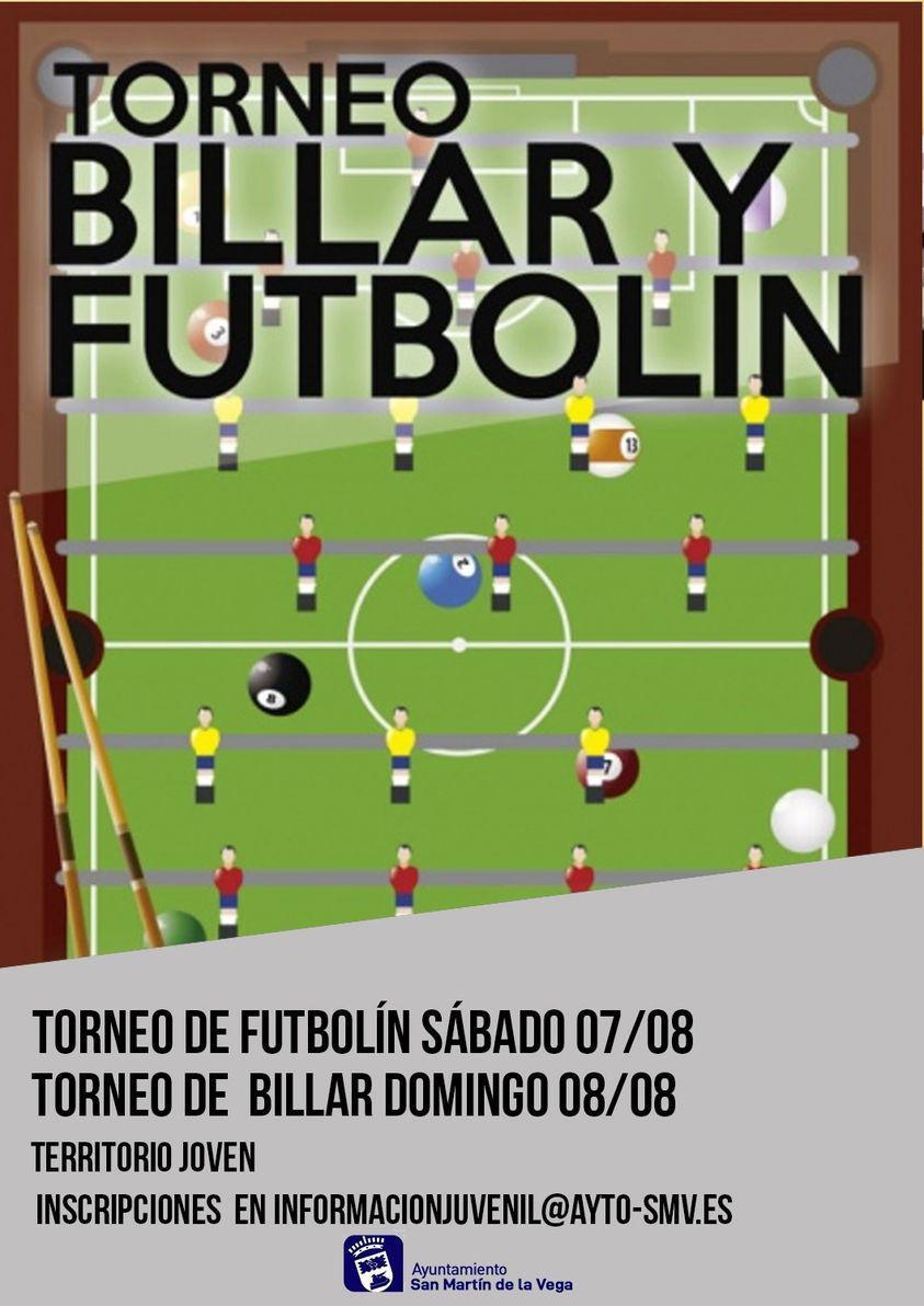 Torneo juvenil de futbolín y billar
