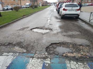 El Ayuntamiento comienza a reparar varias calles que se vieron afectadas tras el paso de la borrasca Filomena