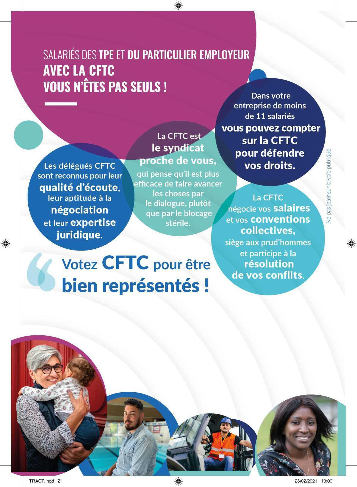 Election TPE, La CFTC pour vous accompagner.