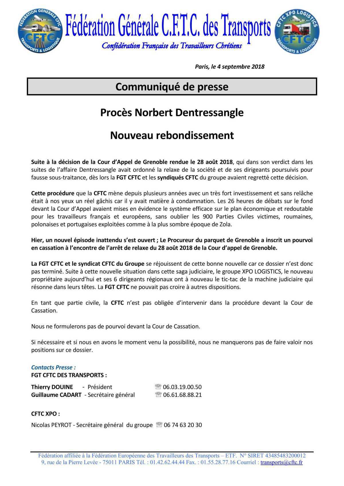 Procès Norbert Dentressangle : nouveau rebondissement...