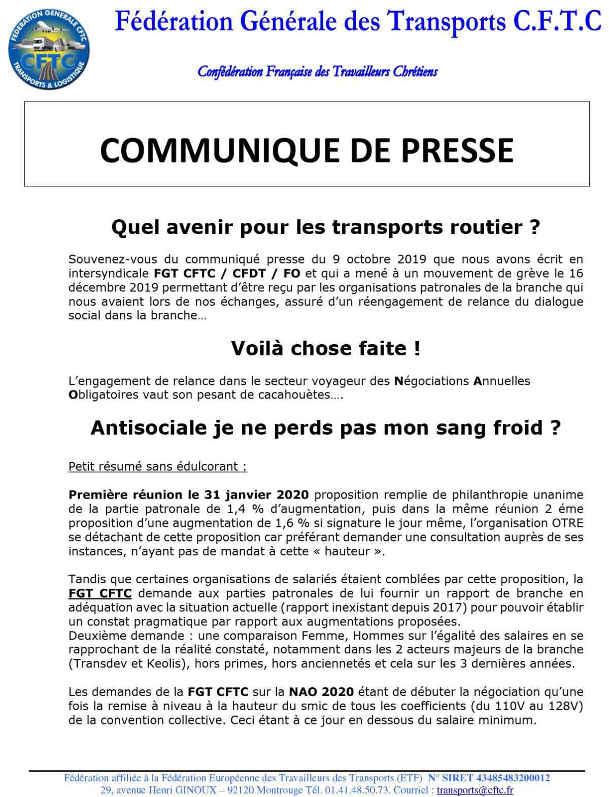 NAO 2020 L'enfumage dans le transport voyageurs !