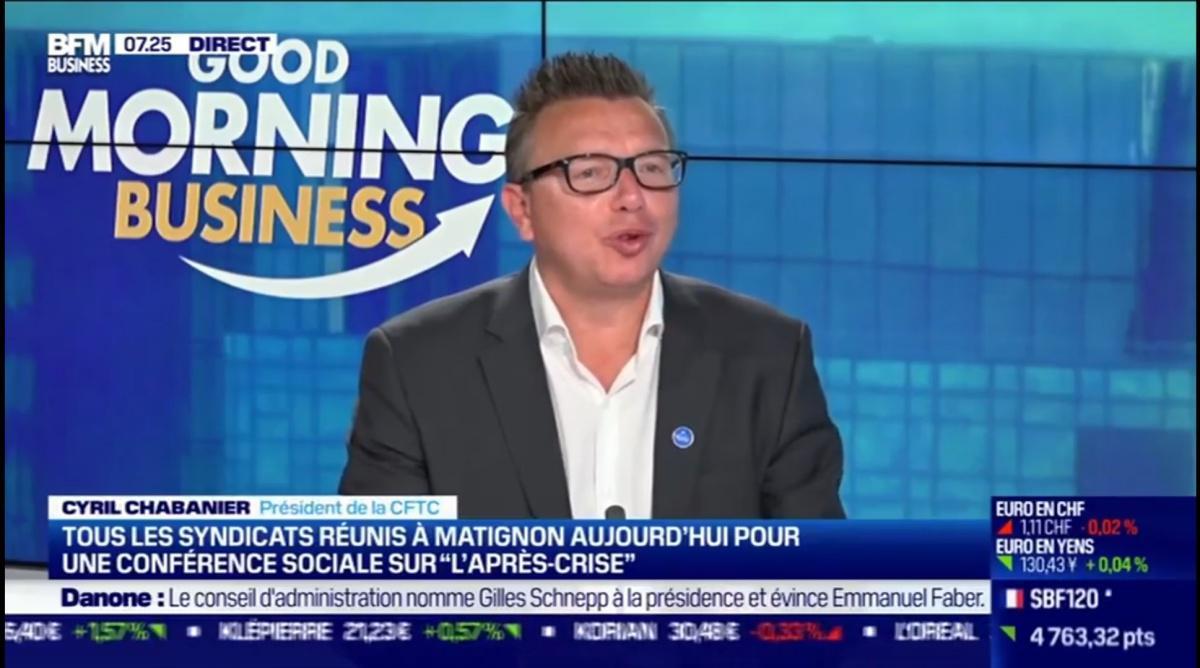 """Cyril Chabanier BFM Business """"l'après crise""""."""