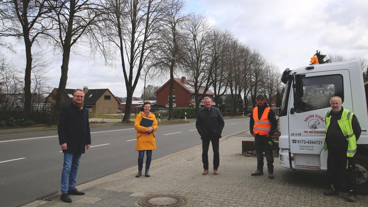 Parkbuchten und Gehwege in Emmeln werden saniert