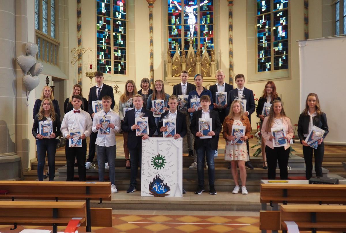 Abschlussjahrgang der Maximilianschule Rütenbrock