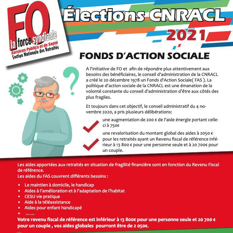Élections CNRACL : Fonds d'action sociale...