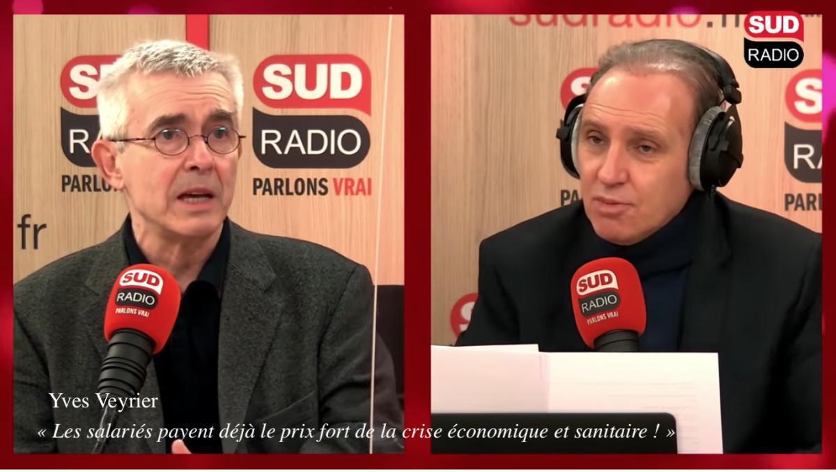 Yves Veyrier au micro de Sud Radio
