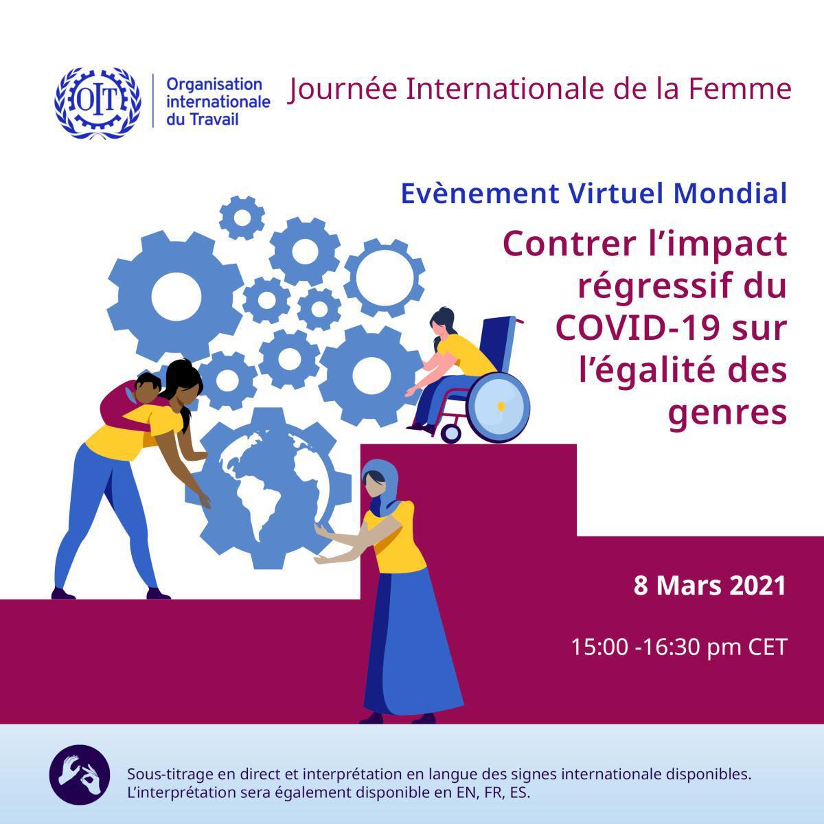 Table ronde : comment contrer l'impact régressif du Covid-19 sur l'égalité des genres