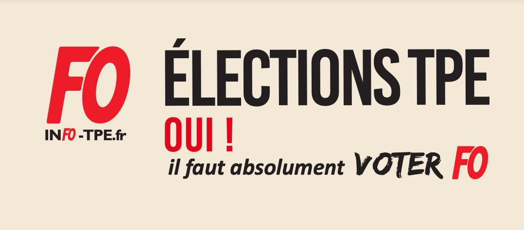 Élections TPE : tract