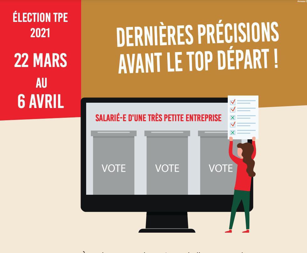 Election TPE - Dernières précisions avant le top départ !