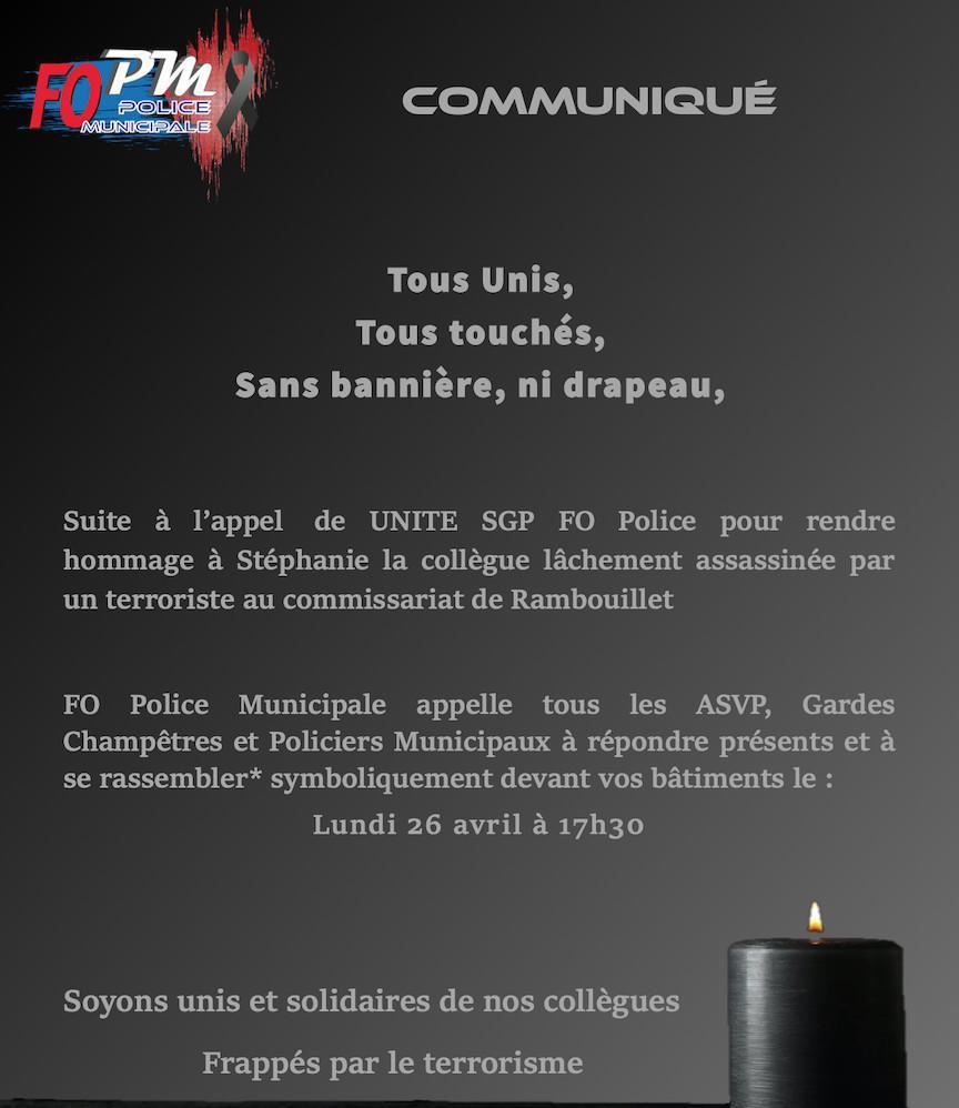 Attentat au commissariat de Rambouillet : hommage à la policière assassinée
