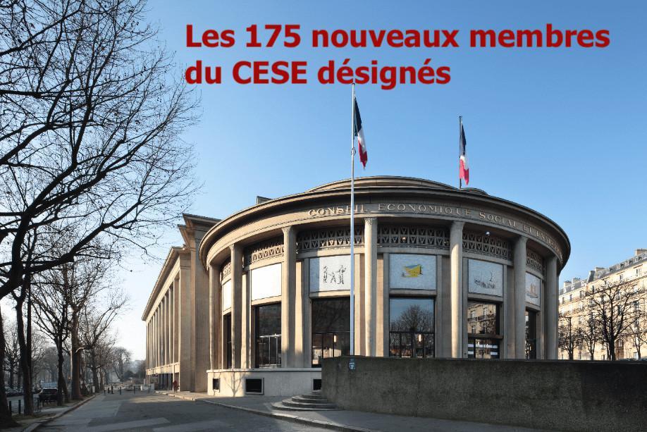 Les nouveaux membres du CESE sont officiellement désignés et se réuniront pour la plénière d'installation de la nouvelle mandature le 18 mai prochain