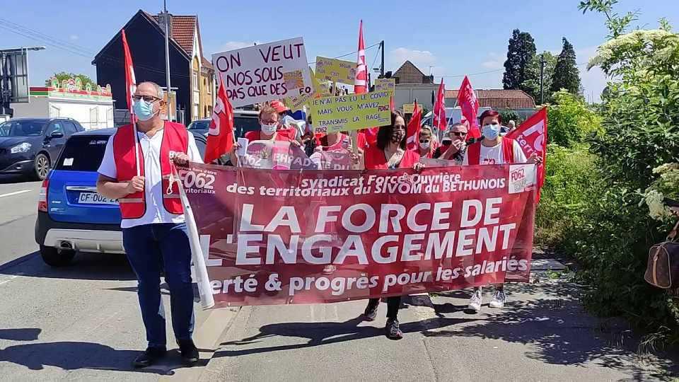Soutien au Syndicat FO du SIVOM du Béthunois et à l'ensemble du personnel en grève