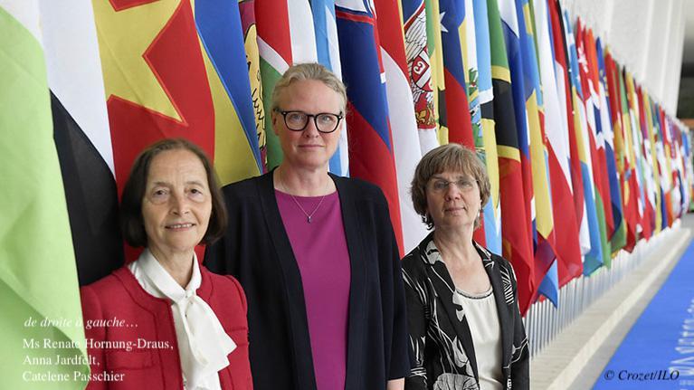 Le Conseil d'administration de l'OIT élit ses nouvelles présidente et vice-présidentes