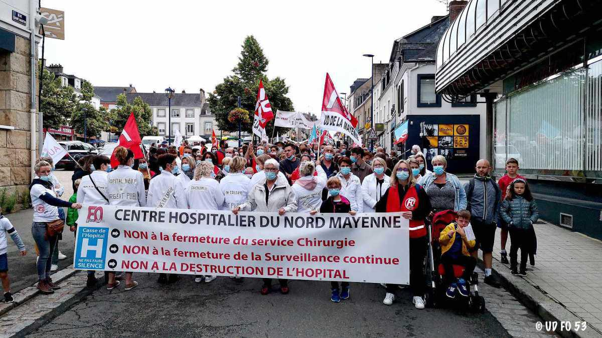 Communiqué de soutien aux personnels et au syndicat Force Ouvrière du CH Nord Mayenne