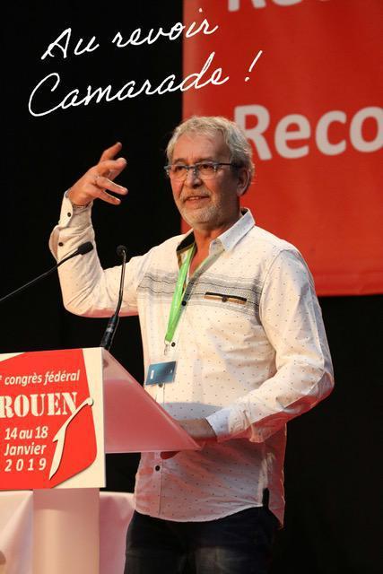DÉCÈS de notre Camarade Didier PIROT