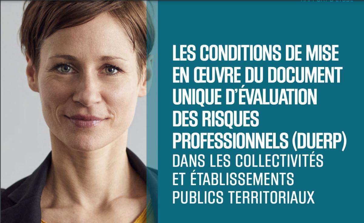 Étude portant sur les conditions de mise en oeuvre du DUERP dans les collectivités et établissements publics territoriaux