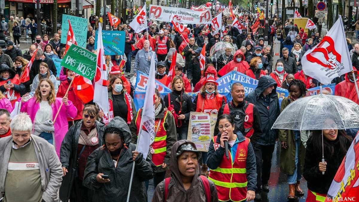 5 octobre : forts de leurs revendications, les travailleurs se mobilisent