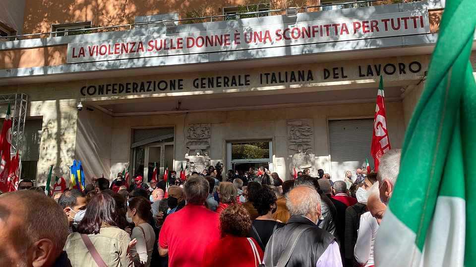 Attaque inqualifiable perpétrée contre la Confédération Générale Italienne du Travail
