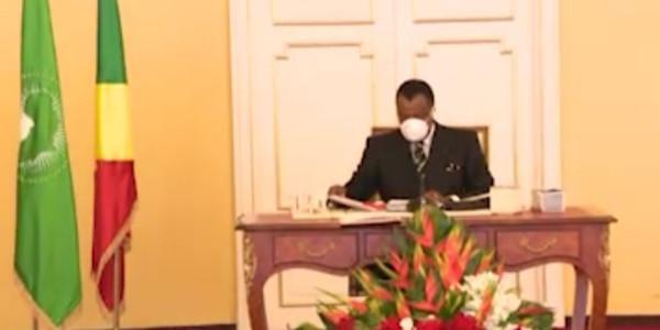 Denis Sassou N'Guesso préside un Conseil de ministres sur le Coronavirus