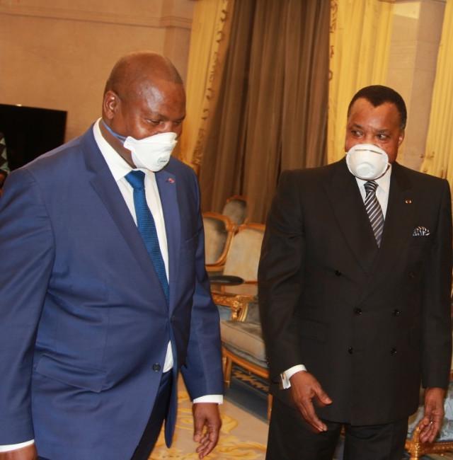 Faustin Archange Touadera chez Denis Sassou N'Guesso
