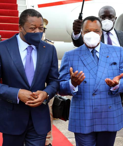 Faure Gnassingbé chez Denis Sassou N'Guesso à Oyo