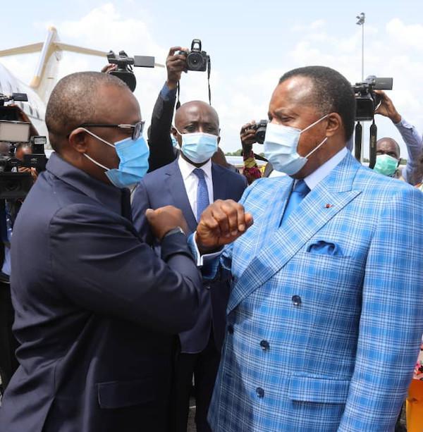 Embaló Sissoco venu congratuler Denis SASSOU Nguesso à Oyo