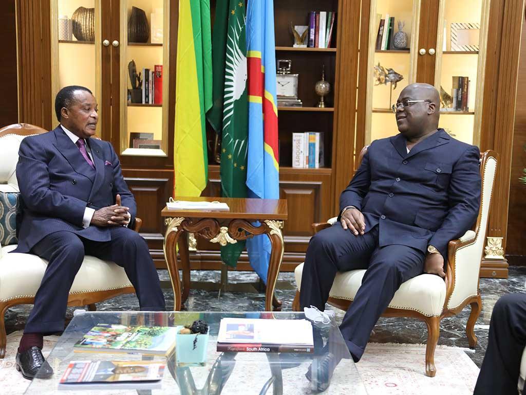 Denis SASSOU Nguesso chez Antoine Tshisekedi à Kinshasa