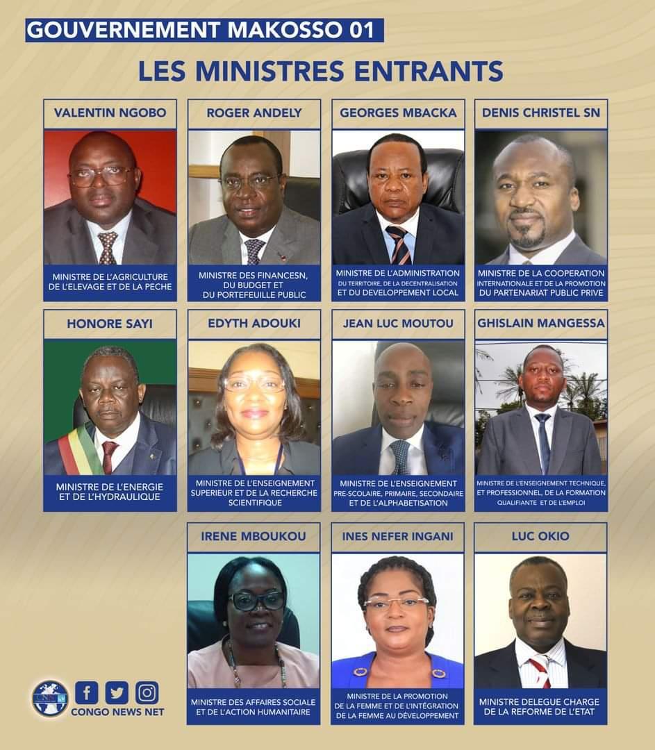 Le nouveau gouvernement de la République du Congo