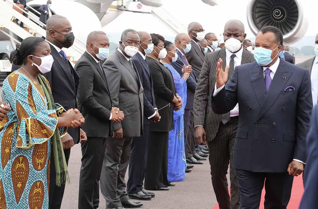 Denis SASSOU Nguesso de retour à Brazzaville après le sommet de Paris