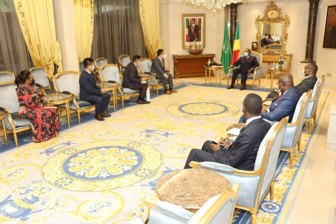 Terry He le président Afrique de Huawei chez Denis SASSOU Nguesso