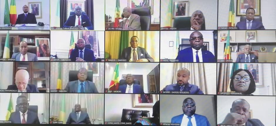 Congo-B. Réunion du conseil des ministres sous l'autorité de Denis SASSOU Nguesso