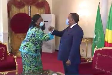 Thérèse N'Dri-#Yoman et Bakary #Bocar ont fait leurs adieux à Denis #Sassou N'Guesso