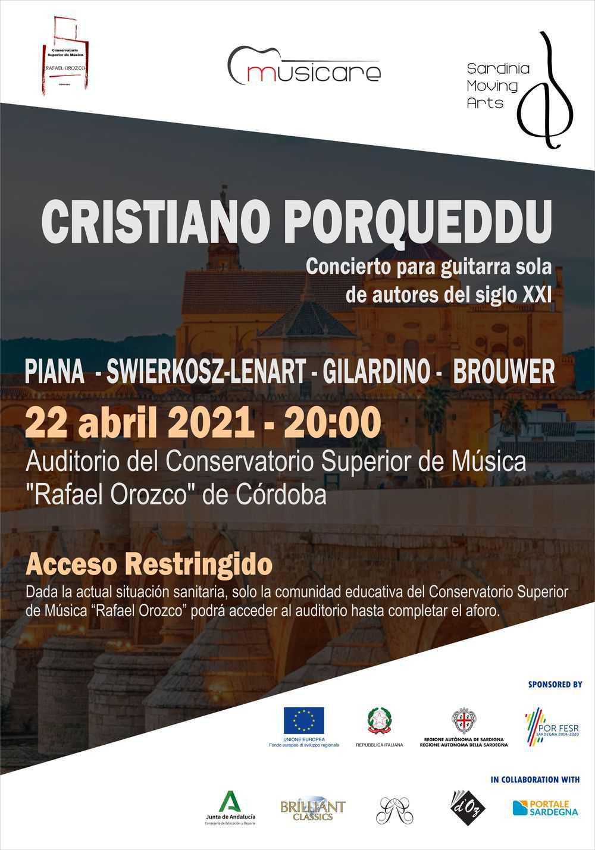 Cristiano Porqueddu, concerto a Córdoba