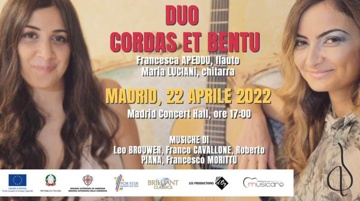 Il Duo Cordas et Bentu a Madrid nel 2022